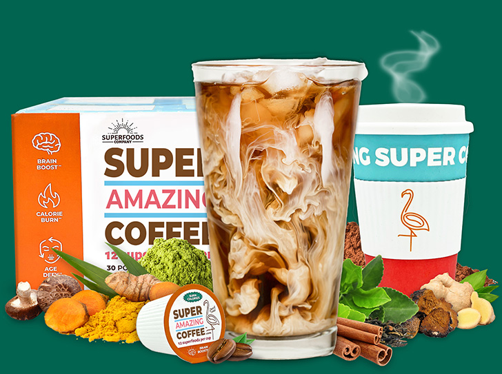 Super Amazing Coffee is made with natural superfoods.